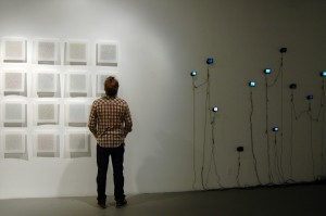 Installation shot of Meditation Code Drawings and Apophenia