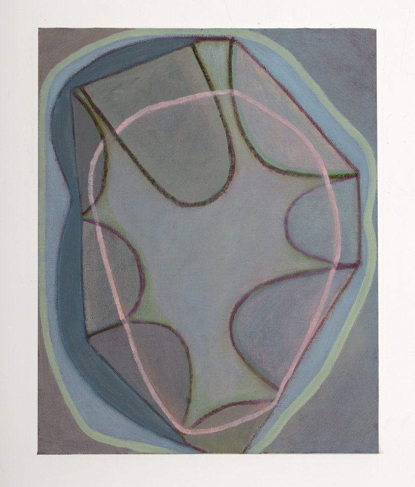 """Belgium Painting 3, (from series Inside of an Outside) oil on linen on wood, 20"""" x 16"""", 2014"""