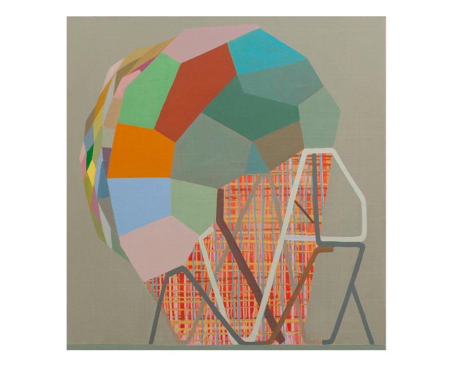 """Self Starter, 38"""" x 36"""", oil on linen, 2010"""