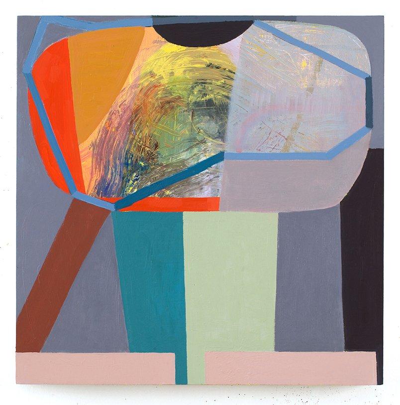 "Unshould, oil on wood, 24"" x24"", 2015"