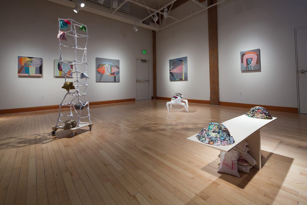 Unfiltered Kilter installation in White Box Gallery, Portland, 2015 (paintings, sculptures, works on paper)