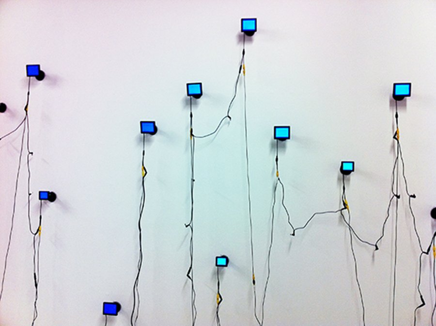 Detail, Apophenia, 12 monitors with single channel videos, Cornish Gallery, Seattle, sound: Sean Regan, 2011
