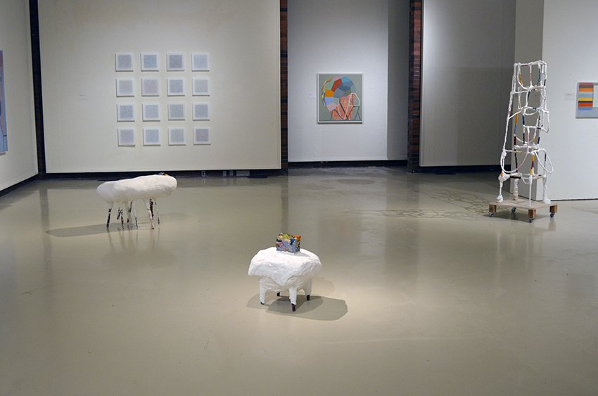 Installation of Adjacent Possibles, Spurgeon Gallery, 2012