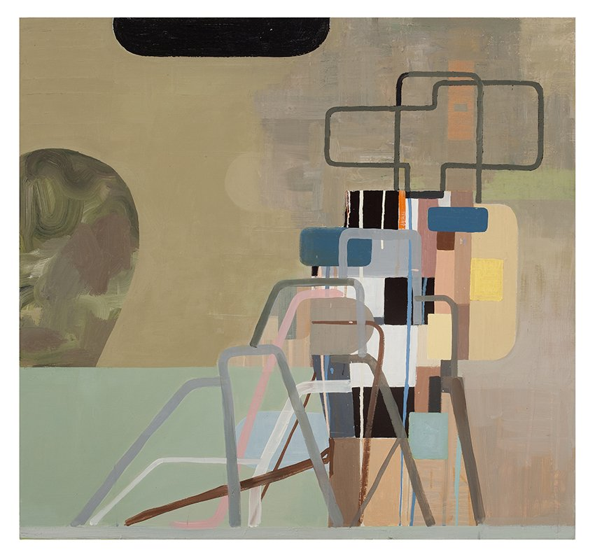 "Piledon, oil on linen, 38"" x 36"", 2010"