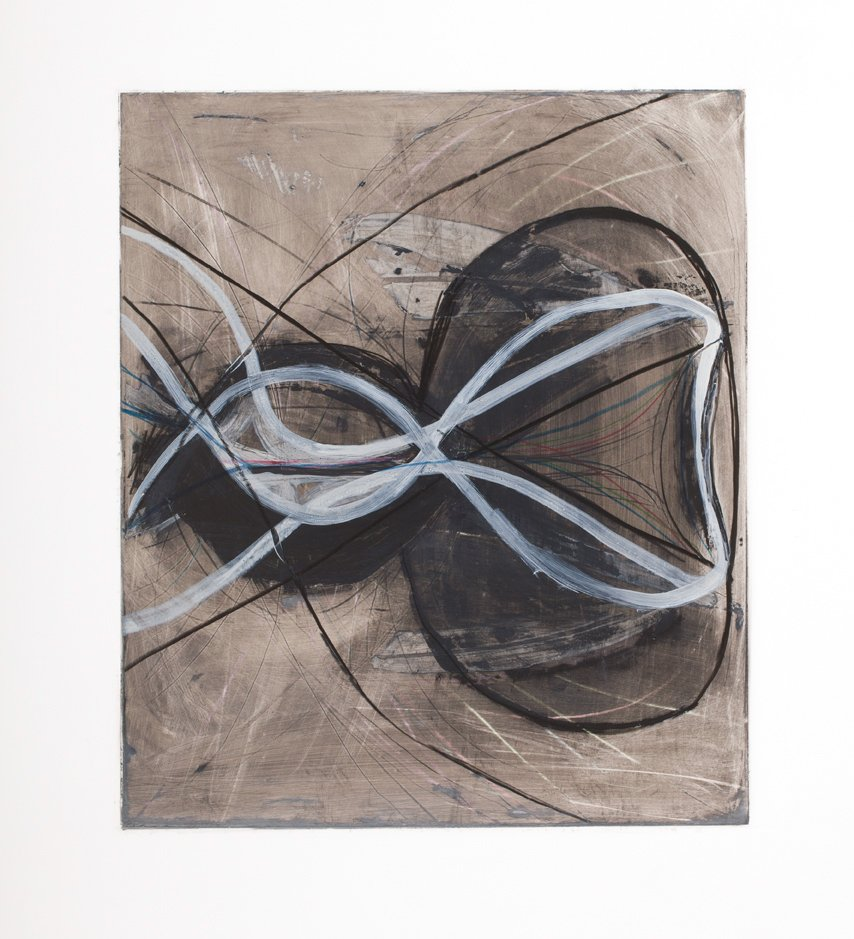 """Drawing 1 from Touch Species series, ink, graphite, gouache, colored pencil on yupo paper, 20"""" x 15"""", 2014"""