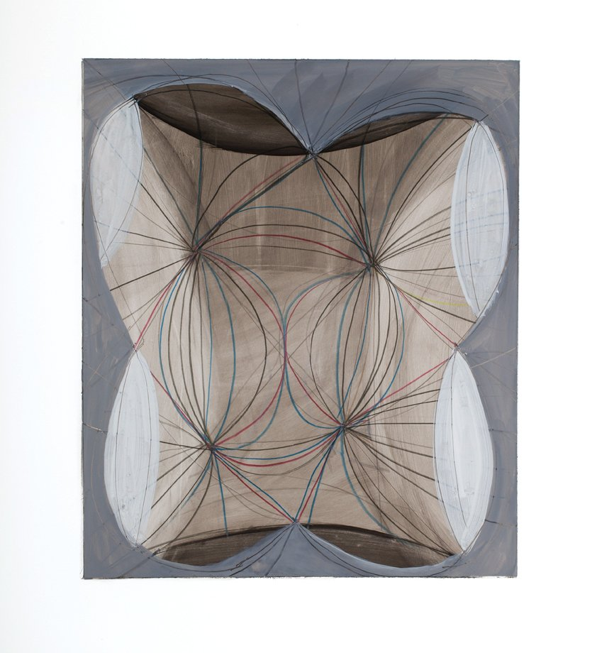 "Drawing 5 from Touch Species series, ink, graphite, gouache, colored pencil on yupo paper, 20"" x 15"", 2014"