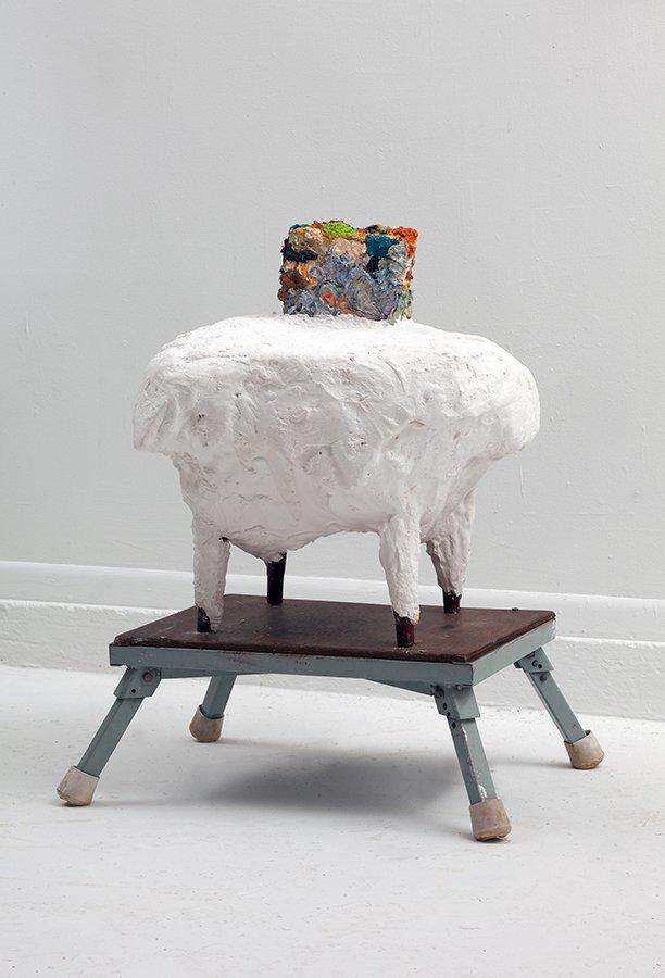"""Supplement, plaster, wood, oil paint, 18"""" x 14"""" x 12"""", 2010"""