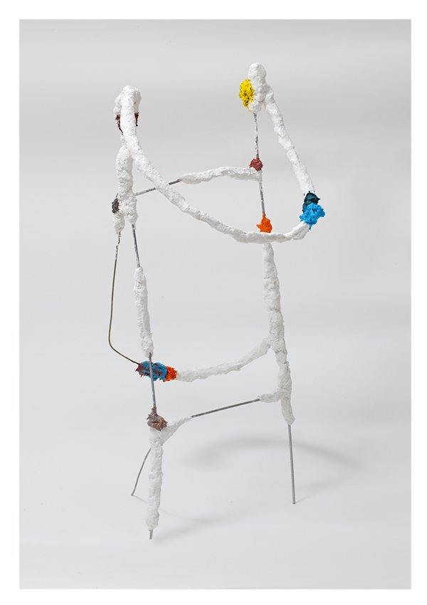 "Propit, wire, plaster, oil paint, 25"" x 8"" x 10"", 2012"