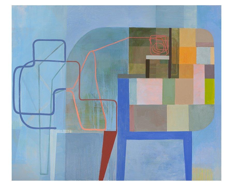 """User Illusion, 60"""" x 72"""", oil on linen, 2010."""