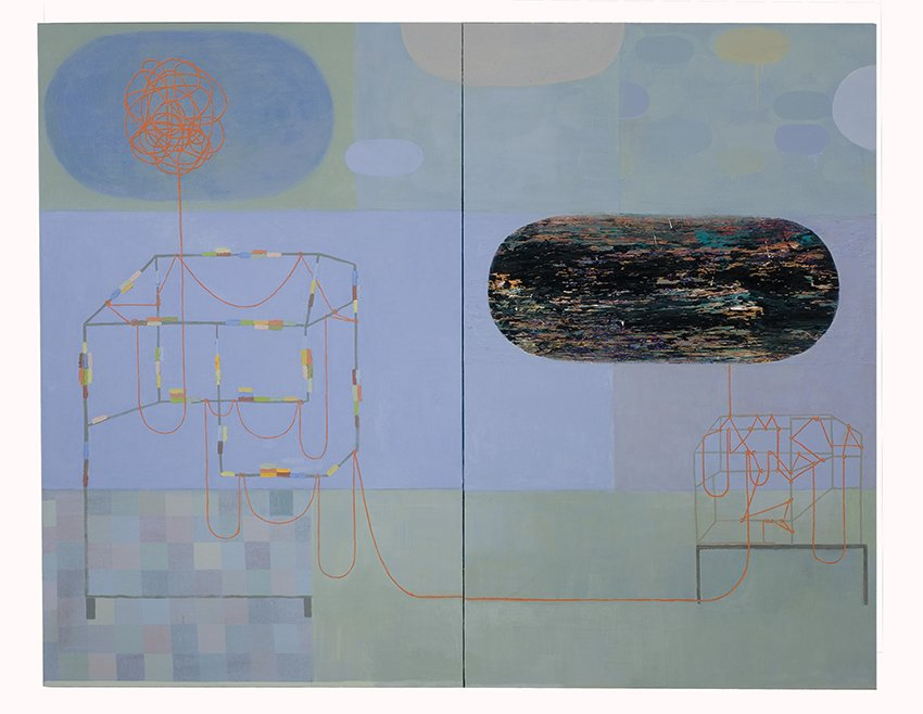 "memory machine, oil on canvas, 60"" x 76"", 2007"