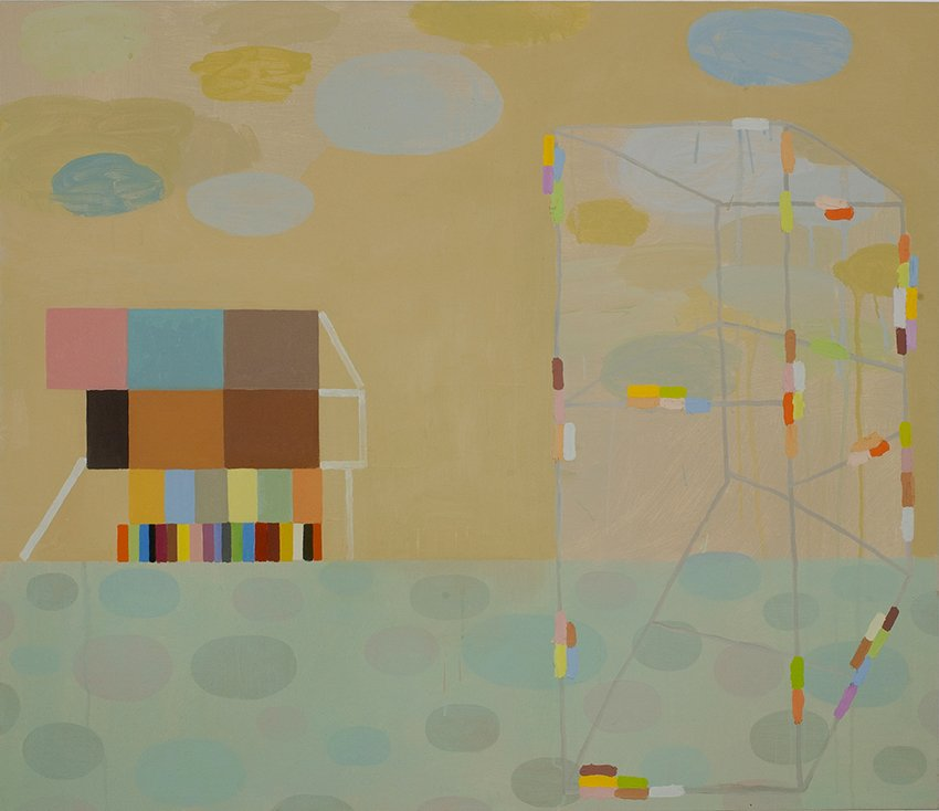 "New construction, oil on canvas, 36"" x 42"", 2007"