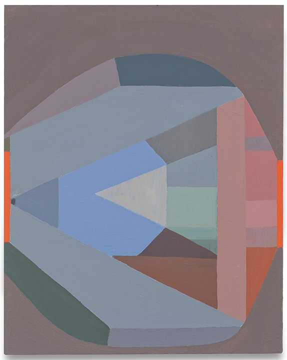 "Nerve, oil on linen on wood, 20"" x 16"", 2015-18"